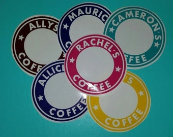 Starbucks Coffe Cup Decal, Coffe Cup Decal, Decal