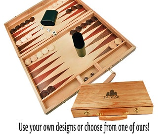 Personalized Backgammon Game Gift Set
