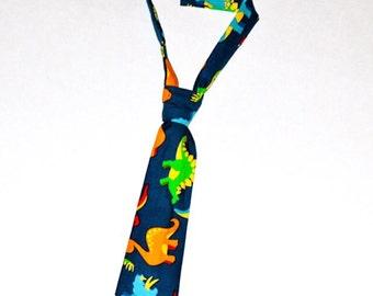 Dinosaur Necktie - dinosaurs - tie - accessories - baby necktie - boys necktie - Sizes 0-12 months thru Size 5.