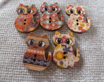 Cat shaped Buttons