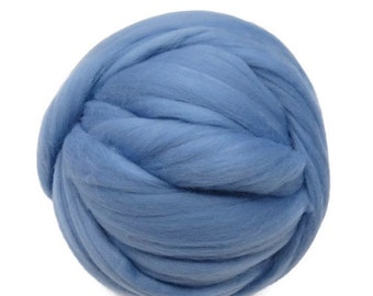 SALE 16 Micron Merino wool Roving Luxury Fiber for felters and spinner (Hydrangea)