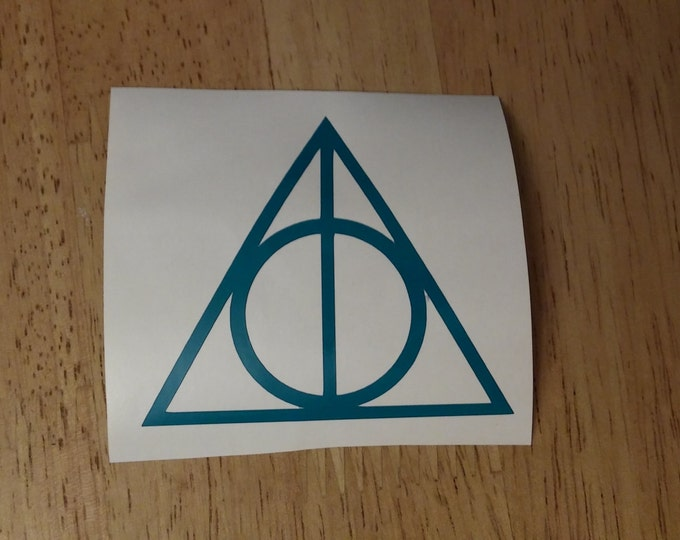 FLASH SALE! TEAL Deathly Hallows Harry Potter Vinyl Decal