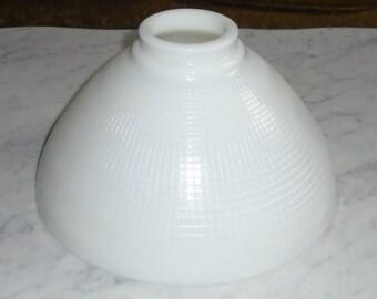 10x5 1/2in Deco Torchiere Milk Glass Diffuser Shade for Stiffel Rembrandt Lamps