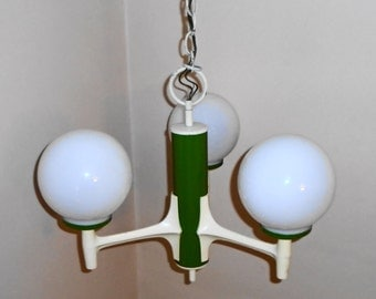 Vintage Mid Century Mod Retro Light Craft Of California Atomic 3 Arm Atomic Orb  Light Fixture