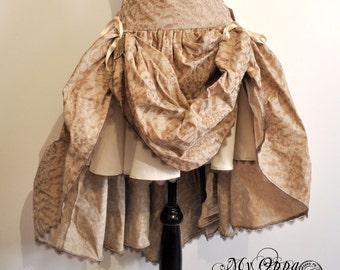 midi skirt steampunk mori feathers