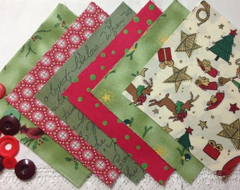A Christmas Mixture, 18 X 5 inch squares
