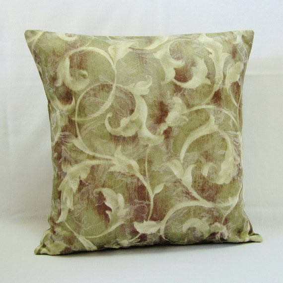 Olive Green Pillow Cover Decorative Throw Accent 16x16 18x18