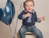 Cake Smash Outfit Boy - Blue Cake Smash Outfit - Boys Cake Smash Outfit - Boys First Birthday Outfit - Toddler Birthday Shirt - Boy Birthday