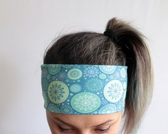 Yoga Headband - Workout Headband - Fitness Headband - Running Headband Boho Headband - Elastic Headband - Blue Headband Y36