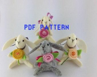 PDF PTTERN - Bunny Pattern - PDF sewing pattern - Plush pattern - Easter Pattern