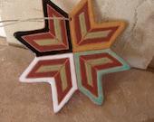 Ceramic Colorful Star Ornament- Native American Art, Southwest