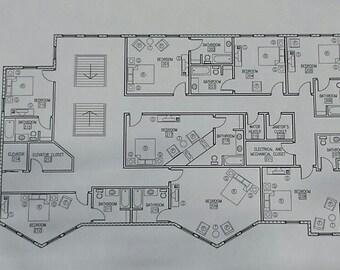 Furniture Plans // Blue Prints // House Plans // Architectural Blueprints // Architecture // Architectural Print