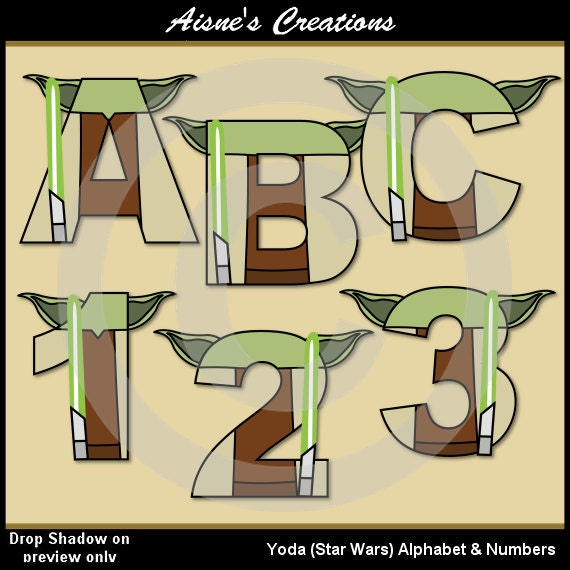 star wars letters yoda wars alphabet letters amp numbers clip by 24972