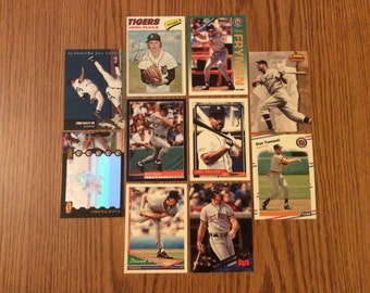50 Detroit Tigers Baseball Cards