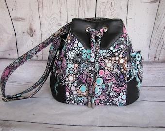 Dahlia Drawstring Bucket Bag
