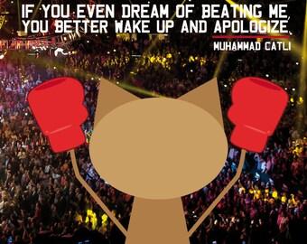 Muhammad Ali. sticker 3.9 x 3.9 in