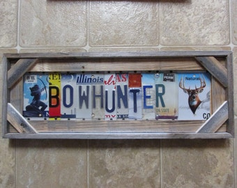 Smith license plate art personalized license plate sign bow hunter license plate sign personalized plate signs bow hunting reclaimed fence solutioingenieria Choice Image