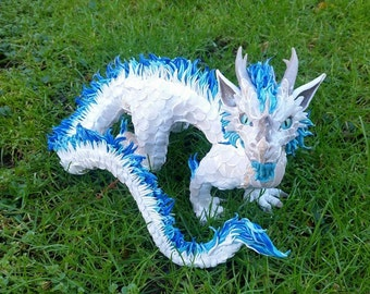 Custom Oriental Dragon Sculpture Made to Order