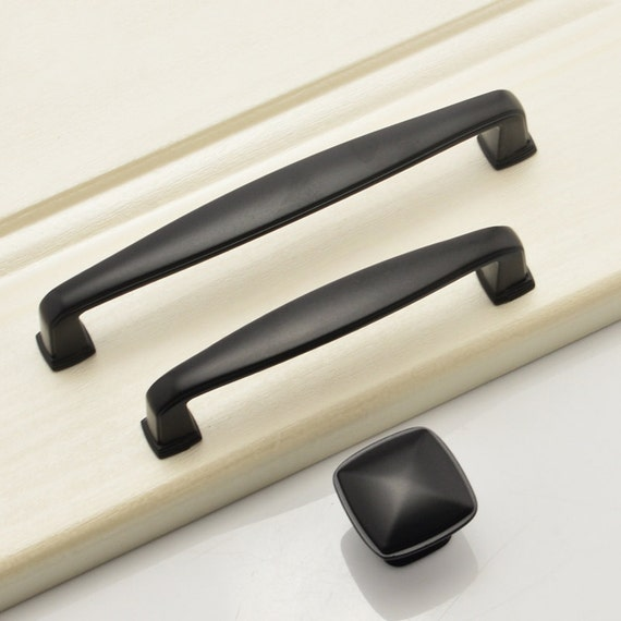 Black Dresser Knob Drawer Knobs Pulls Handles Black Modern