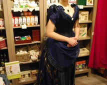 Victorian inspired peacock dress