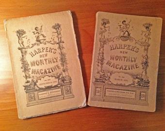 19th Century Harpers Magazines -- Set of 2