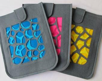"iPad case wool felt ""Neurons"""