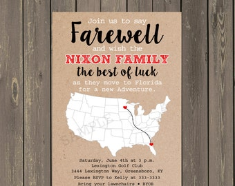 going away party invitation farewell party invite moving announcement bon voyage invitation - Going Away Party Invite