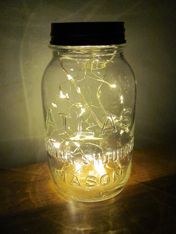 Atlas Mason Jar Battery Operated String Lights Lantern
