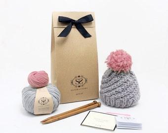 Learn to Knit - Luca Pom Hat Knitting kit Easy+