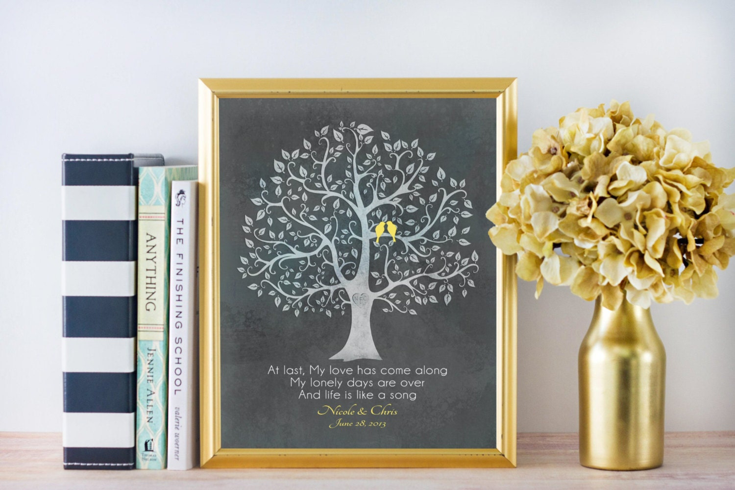 Wedding Gift Personalised: Personalized Anniversary CANVAS Wedding Gift Lyrics Quote