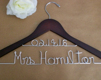 Sale of the Month Only10.00 /Personalized Hanger/Personalized Wedding Hangers/ Custom Wedding Hanger/Weddings/Bride, Wedding Accessories