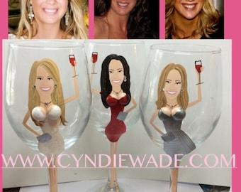 3-D Boob Girls Night Out Bachelorette Wine Glasses