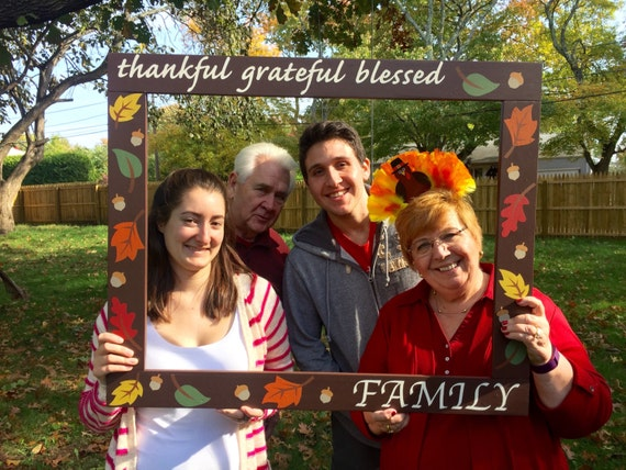 photo booth frame thanksgiving photobooth frame prop family photo booth fall photobooth