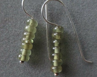 Sterling Silver Peridot Beaded Earrings