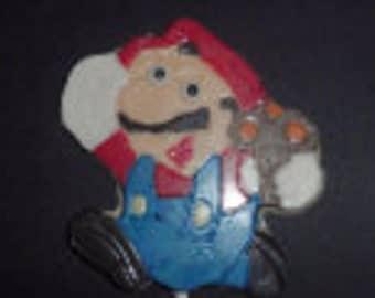 Mario Chocolate Candy Lollipop