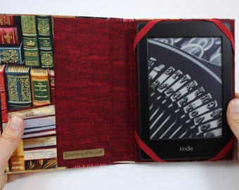kindle cover, kindle case, kindle paperwhite cover, kindle hardcover, fabric kindle cover
