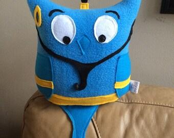 The Genie Owl Plushie- Inspired by Aladdin- Blue Genie Plush toy- Plush Genie