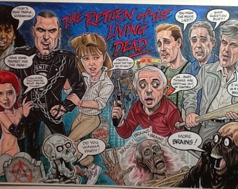 Return of the Living Dead caricature