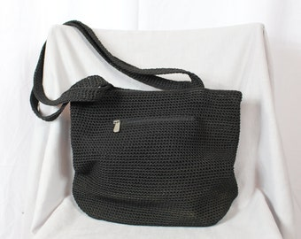 Black knit 80s purse