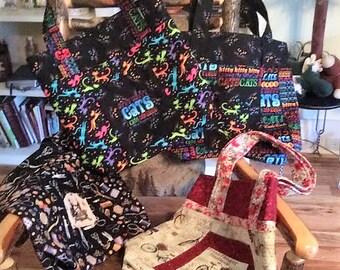 Beautiful Multi-colored Cotton Tote Bags