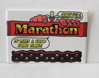 "Marathon Candy Bar 2"" x 3"" Fridge Magnet Art Vintage"