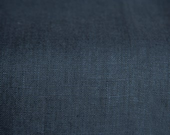 Dark Gray Fabric/ Charcoal Gray Fabric/ Natural Linen/ 100% Linen/ Fabric by Half Yard/ Softened Linen