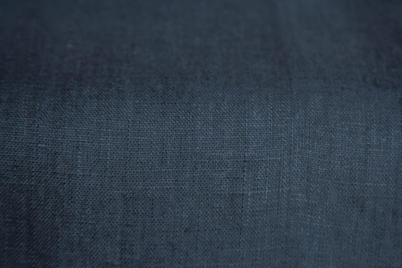 Dark Gray Fabric Charcoal Gray Fabric Natural Linen 100