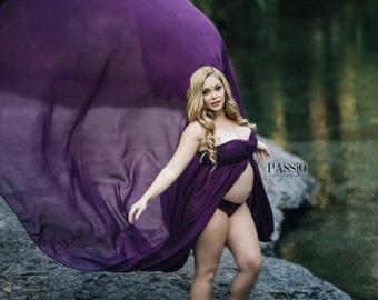 Extra long maternity maxi dresses