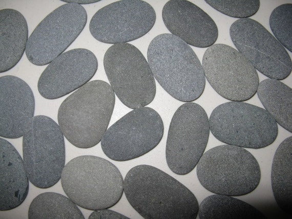 Flat Rock Stone : Stones quot to smooth flat oval beach rocks