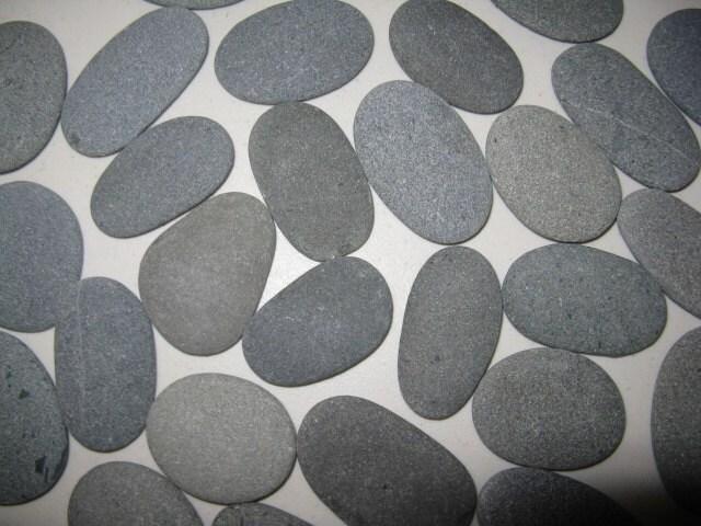 Flat Rock Stone : Stones to smooth flatoval beach