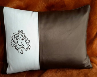 Horse Leather Pillow