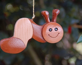 CATERPILLAR CHRISTMAS ORNAMENT a whimsical, cheerful fellow with lots of personality!