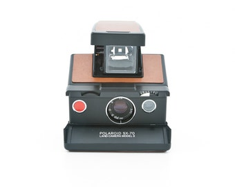 Polaroid SX-70 Land Camera Model 3 - Tested - Guaranteed Working SX70 New brown leather covering - uses Impossible Project SX70 film