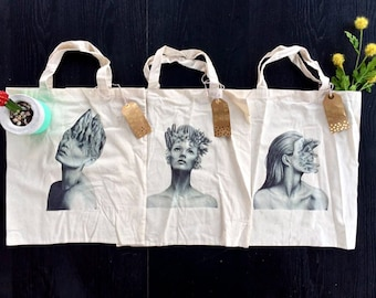 Internal Landscapes Tote Bags